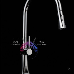 OUBAO Beautiful Kitchen Faucets Gooseneck Swivel with Sprayer