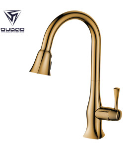 High Arc Pull Down Kitchen Sink Faucet With Single Handle