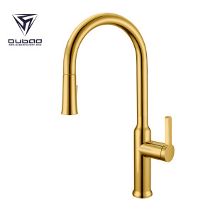 OUBAO Modern Kitchen Sink Faucet Tap with Pull down Sprayer