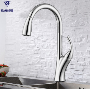 OUBAO Mixer Kitchen Faucet Morden Chrome Single Handle