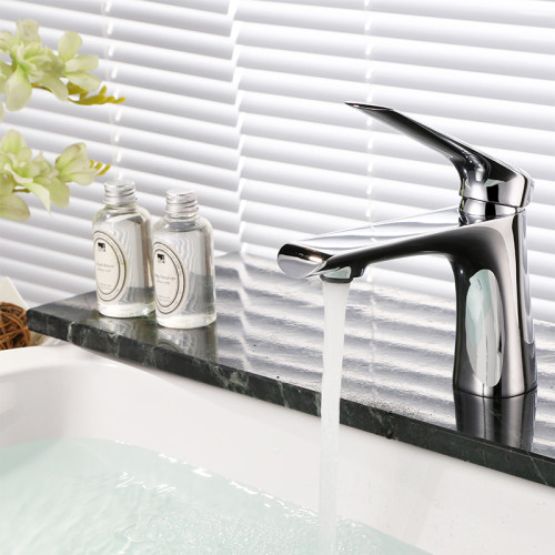 OUBAO Modern Bathroom Sink Faucet Best Single Hole Basin Tap