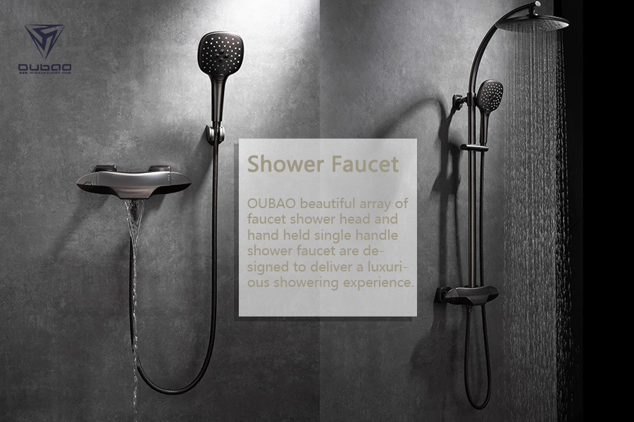 OUBAO beautiful array of faucet shower head and hand held single handle shower faucet are designed to deliver a luxurious showering experience.