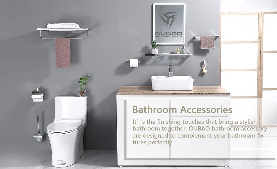 It's the finishing touches that bring a stylish bathroom together. OUBAO bathroom accessory are designed to complement your bathroom fixtures perfectly.