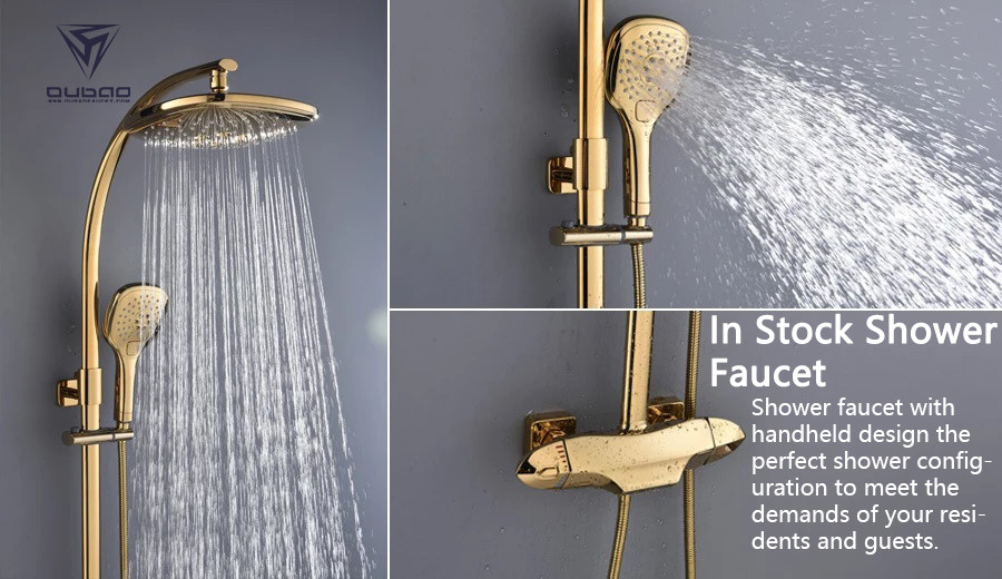 Shower faucet with handheld design the perfect shower configuration to meet the demands of your residents and guests.