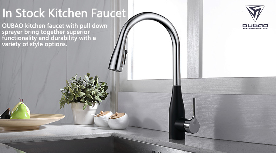 OUBAO kitchen faucet with pull down sprayer bring together superior functionality and durability with a variety of style options.