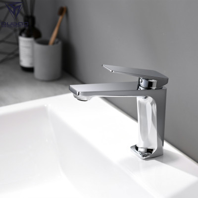 OUBAO Basin Faucet Single Handle Lever Modern Brass Faucet New Design