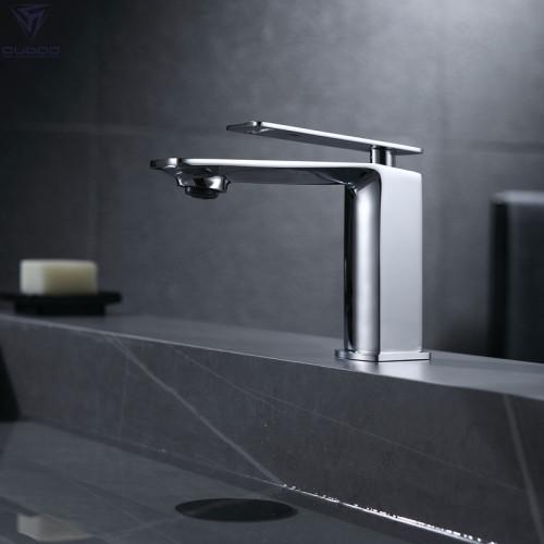 OUBAO Bathroom Faucet Single Handle Luxury Chrome Brass Basin Tap