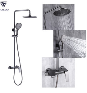 OUBAO Washroom Shower Set Wall Mounted One Handle Luxury Best Shower Faucets Set