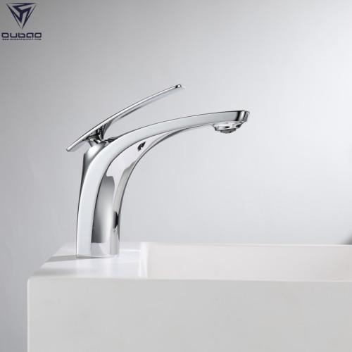 OUBAO Bathroom Faucet Copper Single Lever Handle Face Basin Faucet