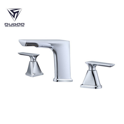 Deck mounted best 3 hole bathroom sink faucet,High end bathroom faucets