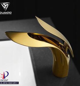 OUBAO Modern Design Gold Basin Faucet For Bathroom
