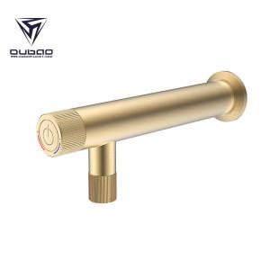 OUBAO Wall Mounted Bathroom Wash Basin Faucet Matte Black Single Hole