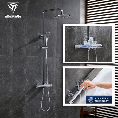 OUBAO Cool Touch Techology Thermostatic Bath Shower Faucet Set Wall