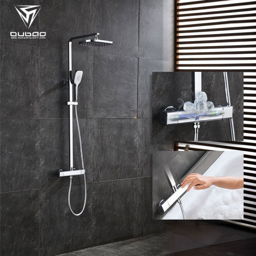 OUBAO Thermostatic Rainfall Shower Faucet Set with Thermostatic Control