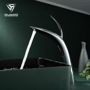 OUBAO Bathroom Faucets Chrome Bathroom Basin Sink Single Handle Faucet