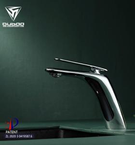 OUBAO Bathroom Single Faucet | Copper Basin Sink Taps | Waterfall Single Handle Basin Faucet