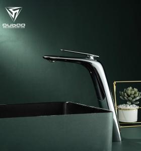 OUBAO Best Bathroom Faucets | Brass Chrome Basin Tap | Single Hole Faucet