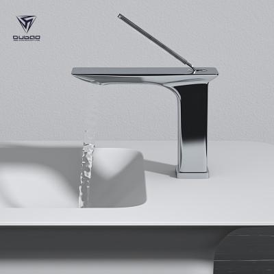 OUBAO Bathroom Basin Faucet | Modern Single Hold Faucet | Commercial Chrome Bathroom Sink Faucets