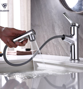Pull Out Bathroom Faucet OB-9307 | Chrome