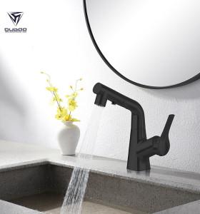 Pull Out Bathroom Faucet OB-6587H | Matte Black