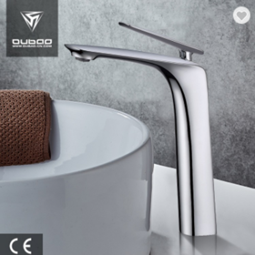 OUBAO Tall Mixer Tap Deck Mounted Single Chrome Polished