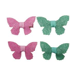 Glitter butterfly clips
