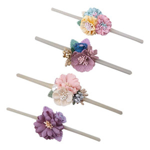 Baby Girls Flower Headwrap