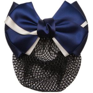 Metal snap hair clip with bow