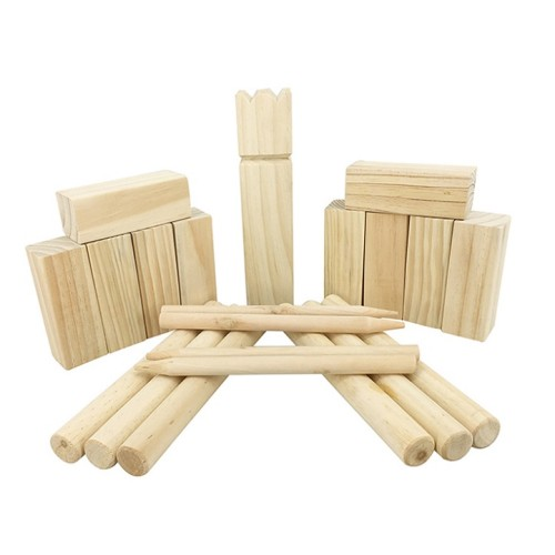 Outdoor viking kubb toys wooden skittles game for wholesale