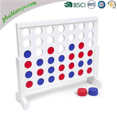 Outdoor Kids Educational 2/3/4 FEET Giant Wooden Connect 4 / Four In A Row Games Toys