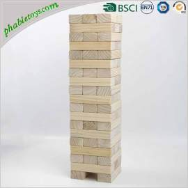 Giant Natural Pine Wooden Jenga Games / Wooden Blocks Stacking Games Set