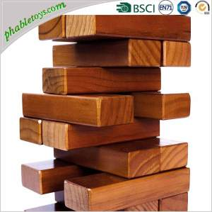 Giant Stained Pine Wooden Tumble / Tumbling Toppling Tower / Timbers