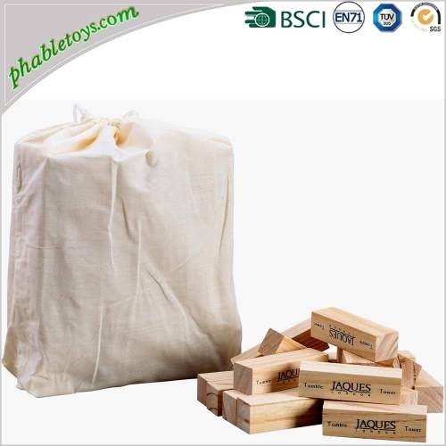 Classic Giant Natural Wooden Jenga Games / Wooden Block Stacking Games Set