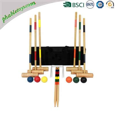 Professional Champions 4 / 6 Players Garden Wooden Croquet Game Sets