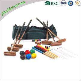 Classic 6 Players Hardwood Garden Croquet Games Sets