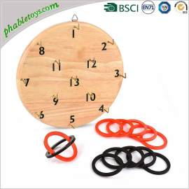 Classic Solid Wooden Wall Hook & Ring Toss Game Set For Outdoor Backyard Games