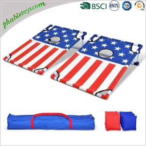 Lightweight Portable Aluminum Framed Cornhole Bean Bag Toss Game Board