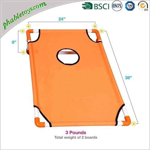 Lightweight Portable Aluminum Framed Cornhole Bean Bag Toss Game Board