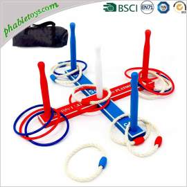 Custom Solid Wooden Ring Toss Game Set For Kids & Adults