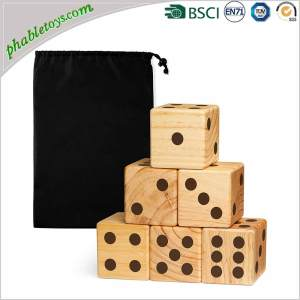 Costum 6 Extra Giant Pine Wood Wooden Yard Lawn Dice Games Set
