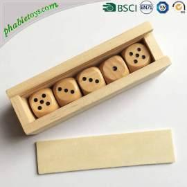 Phable 5 Pack Extra Large Giant Outdoor Pine Wooden Yard Lawn Dice Sets