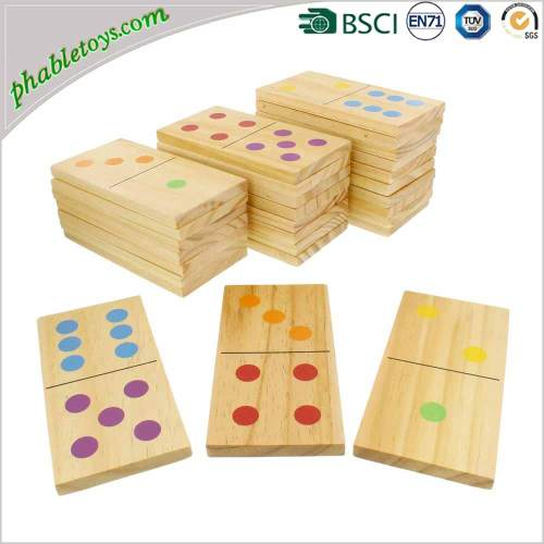 28 Pieces Extra Large Outdoor Pine Wooden Yard Lawn Domino / Dominoes Game Set