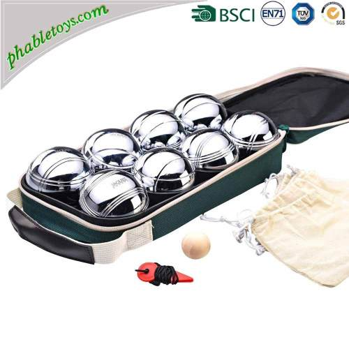 4/6/8 Pack Chrome-Plated Metal Steel Petanque Boules Set / Bocce Ball Games Set