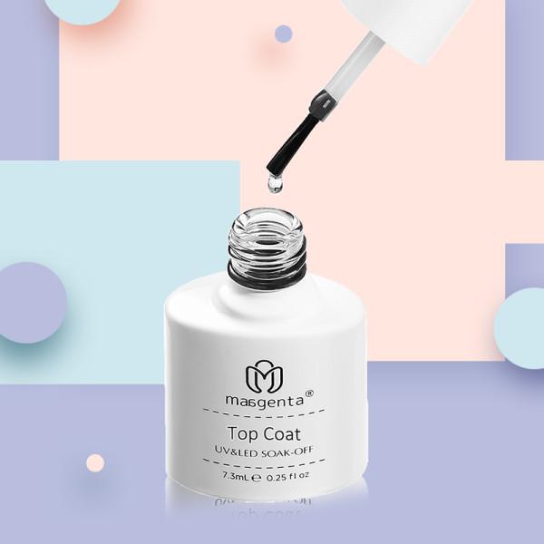 TOP COAT high viscosity crystal nail polish