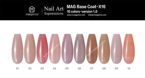 NUDE RUBBER BASE a collection of practical nude nail colors