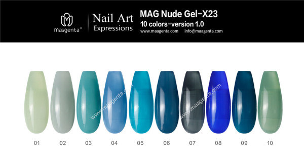 COLOUR GEL MAG Solid Color Gel Collection-X23