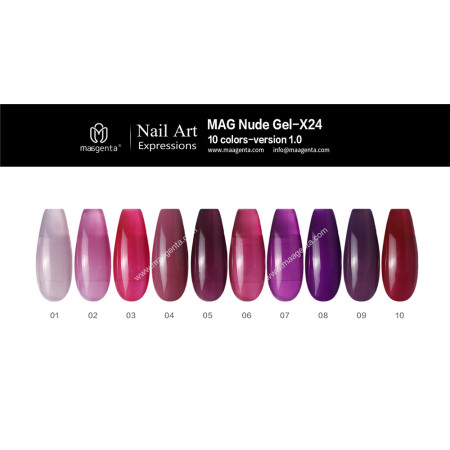 COLOUR GEL MAG Solid Color Gel Collection-X24