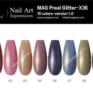 GLITTER GEL MAG Pearl Glitter-X36