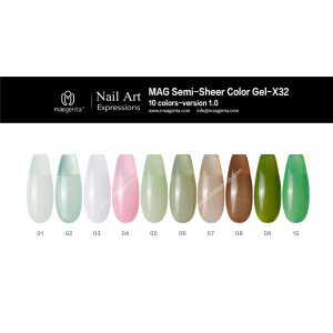 COLOUR GEL MAG Solid Color Gel Collection-X32