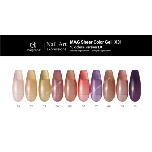 COLOUR GEL MAG Solid Color Gel Collection-X31